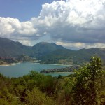 lago del turano, panoramica