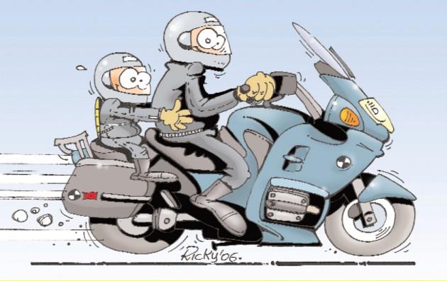 figli in moto